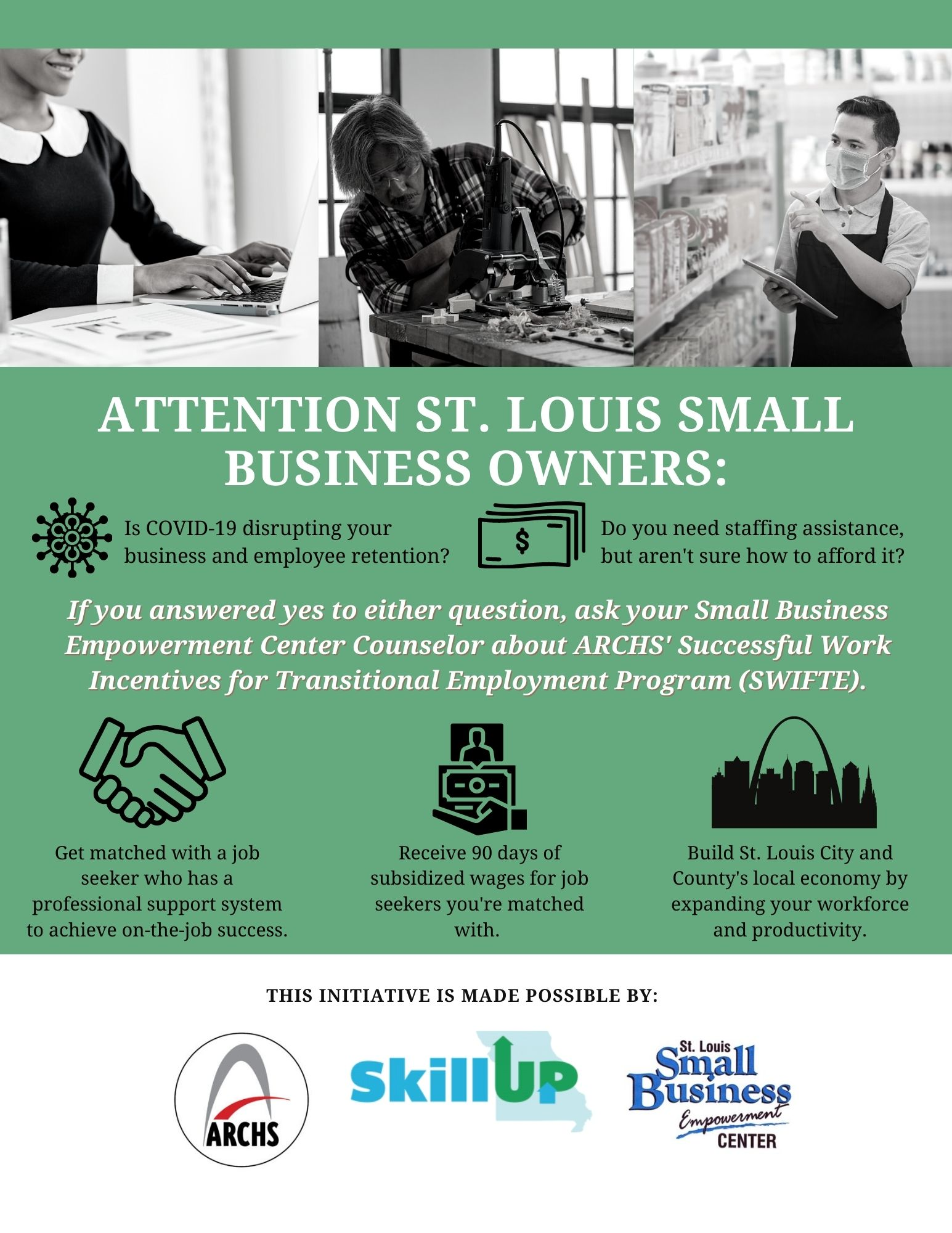 Small Business SWIFTE Flyer for Businesses